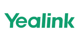 Yealink logo showing the green of Yealink's brand on white background.